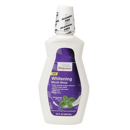 Walgreens Alcohol Free Whitening Mouthwash Mint - 32 oz