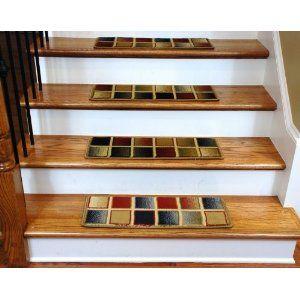 Premium Carpet Stair Treads   Checkerboard 13 Pack