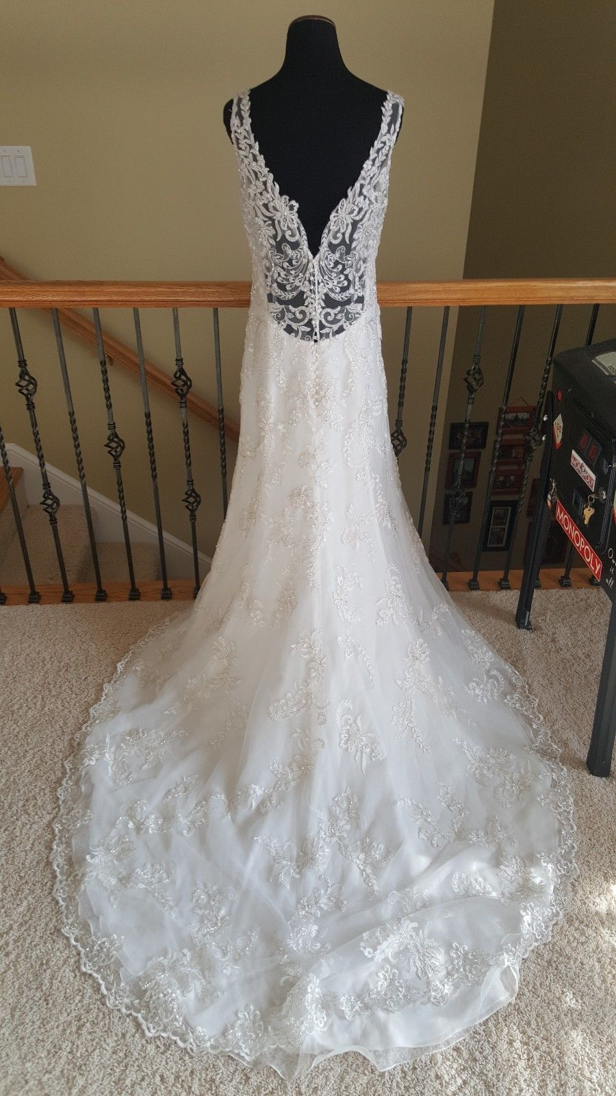New 1570 Maggie Sottero Verina Marie Ivory Lace Wedding Dress Size 12 Size 12 Wedding Dress Ivory Lace Wedding Dress Ebay Wedding Dress
