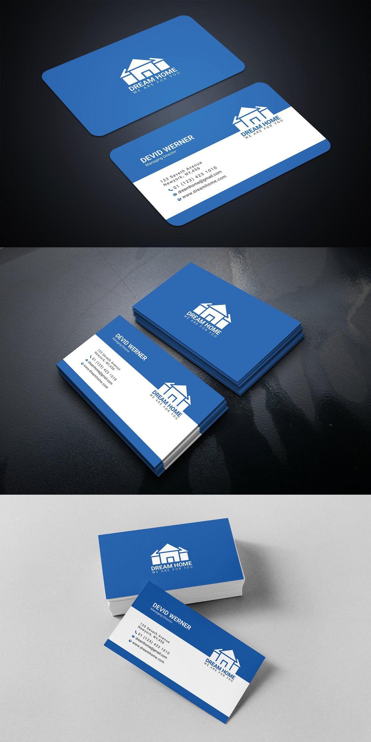 Real Estate Business Card Real Estate Business Cards Printing Business Cards Business Card Design Minimal