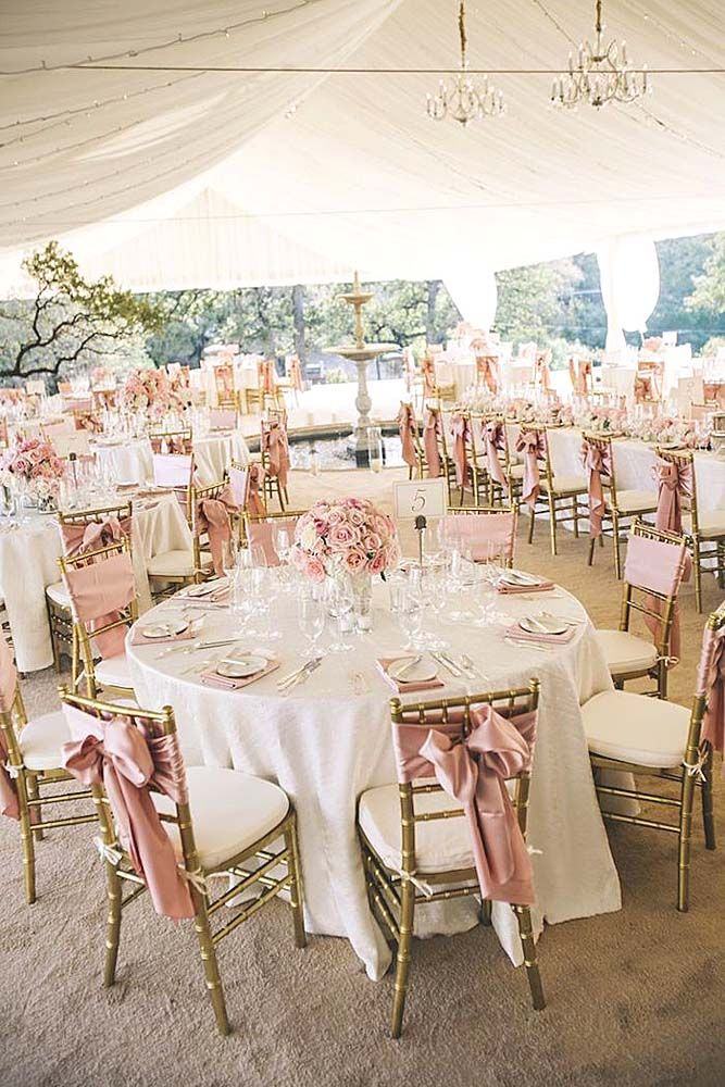 Pink Wedding Decorations Quinceanera Reception Table Weding Decoration