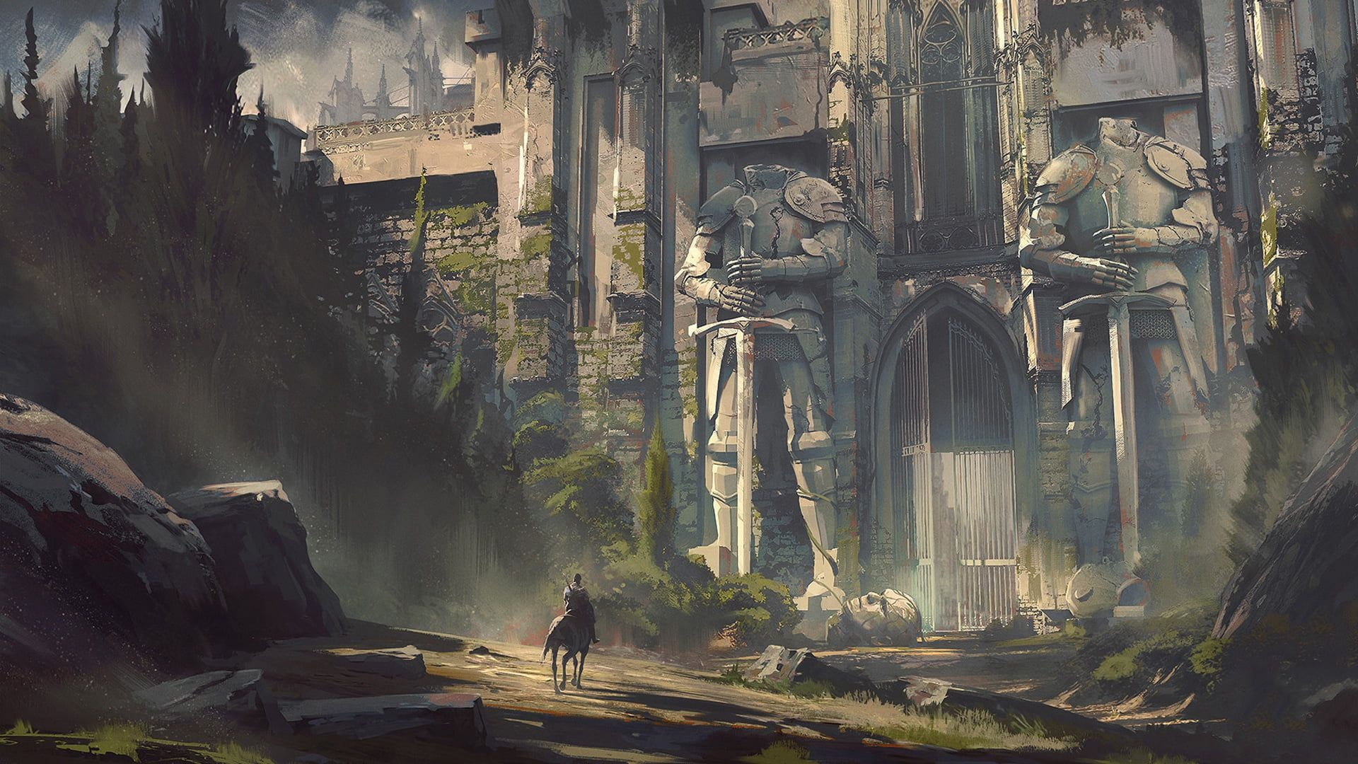 Dungeons And Dragons Jedd Chevrier Dungeons And Dragons Curse Of Strahd Tabletop Role Playing Game In The Fan In 2020 Fantasy Art Digital Art Fantasy Fantasy Landscape