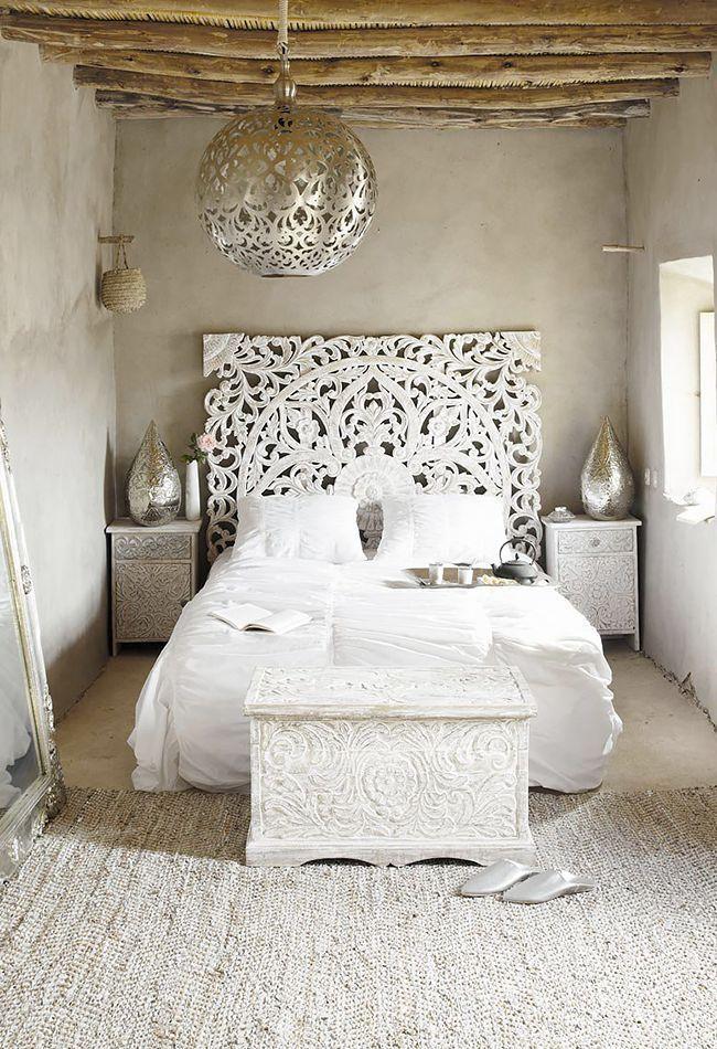 Elegante camera da letto bohémien Ispirazione per tutta
