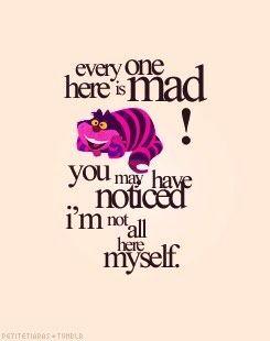 Cheshire Cat Quote Alice In Wonderland Alice And Wonderland Quotes Adventures In Wonderland Wonderland