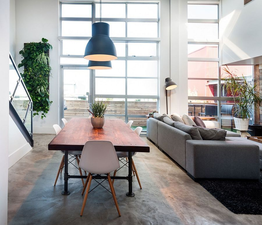 modern loft furniture. open plan living area of the modern loft in vancouver - decoist furniture d