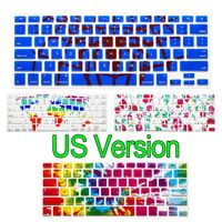 """USA layout Letters Printing Keyboard Cover For Macbook Air Pro Retina 13 15 Laptop Protective Film for macbook 13"""" 15"""