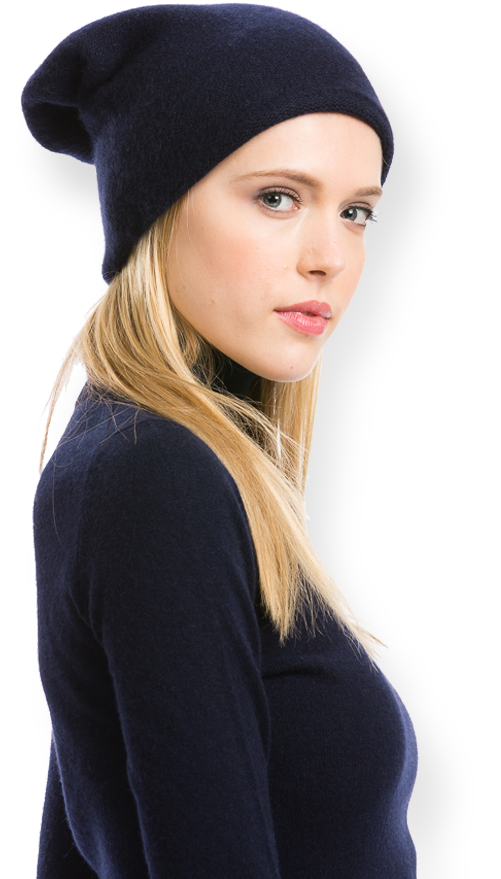 a0dc25d4a Slouchy Beanies for Women by Citizen Cashmere and a matching navy ...