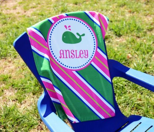 every child should have a personalized beach towel so cute pool