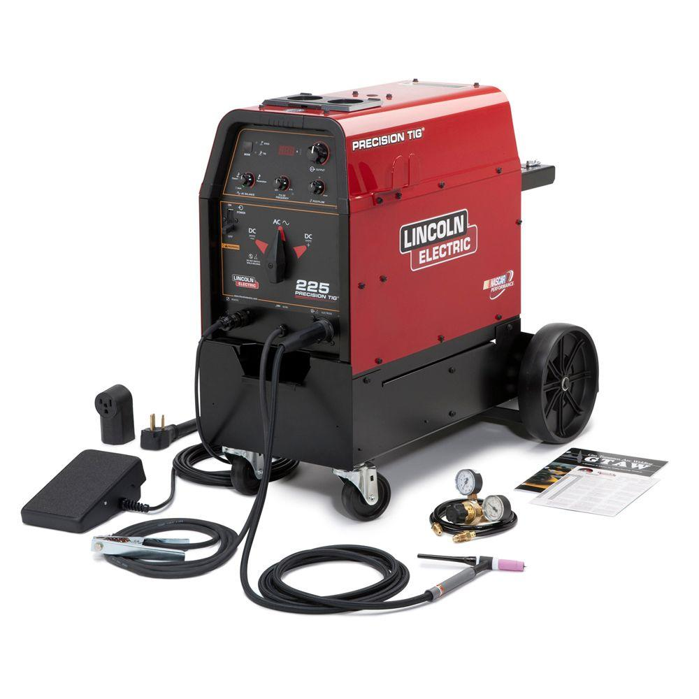 hight resolution of lincoln electric 230 amp precision tig 225 tig welder ready pak w cart single phase 208v 230v