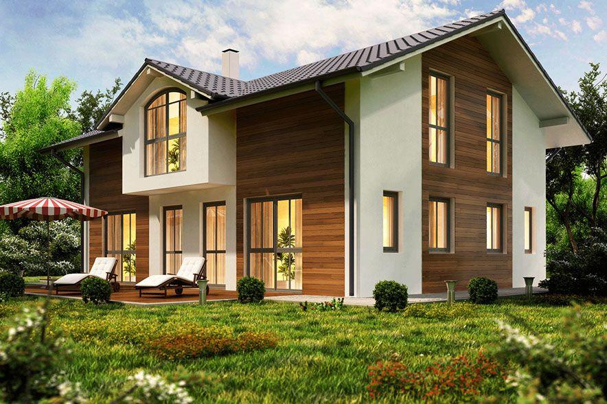 fassaden aus aluminium zink kupfer holz holzfassade pinterest haus haus ideen und. Black Bedroom Furniture Sets. Home Design Ideas