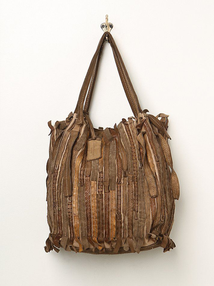 Free People Caterina Lucchi Pieced Leather Tote 598 00