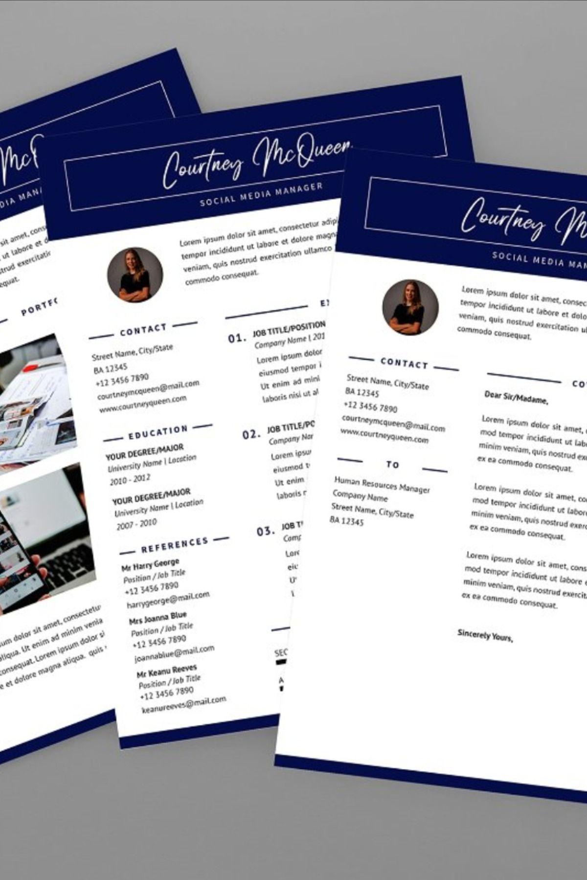 Courtney social resume designer social resume best