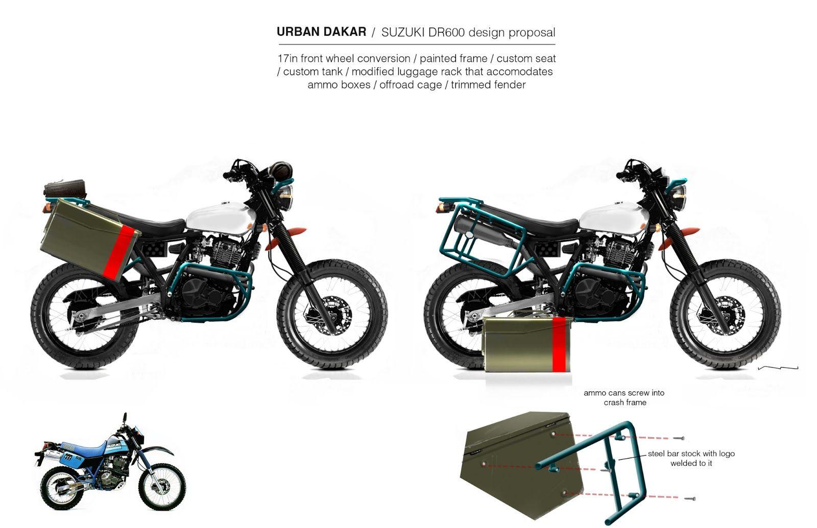Custom Bike Concept 001 Urban Dakar Custom Bikes Custom Tanks