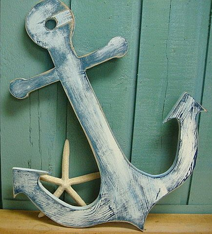 Anchor Sign Beach Lake House Cottage Nautical Boat Wall Art #beachhouse