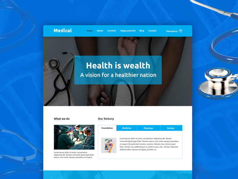 medino one page medical psd template freebie psd templates and