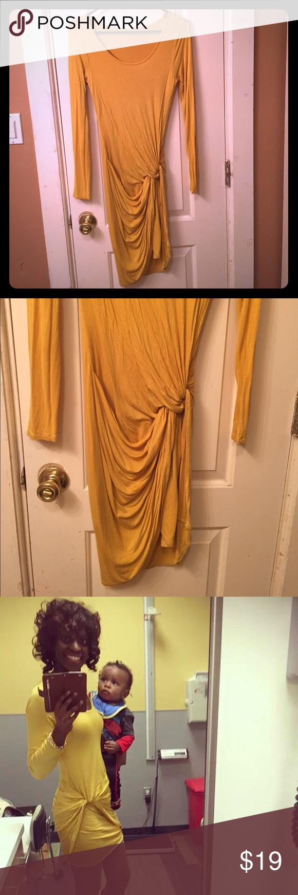 Yellow dress long sleeve  Yellow Dress  Yellow long sleeve dress Yellow dress and Sleeved dress