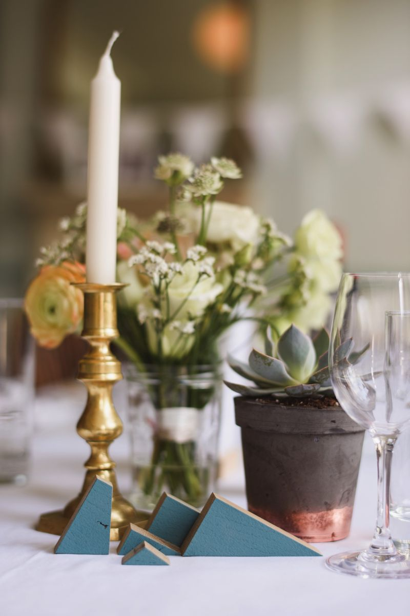 Succulent wedding decorations Sam Gibson Photography real