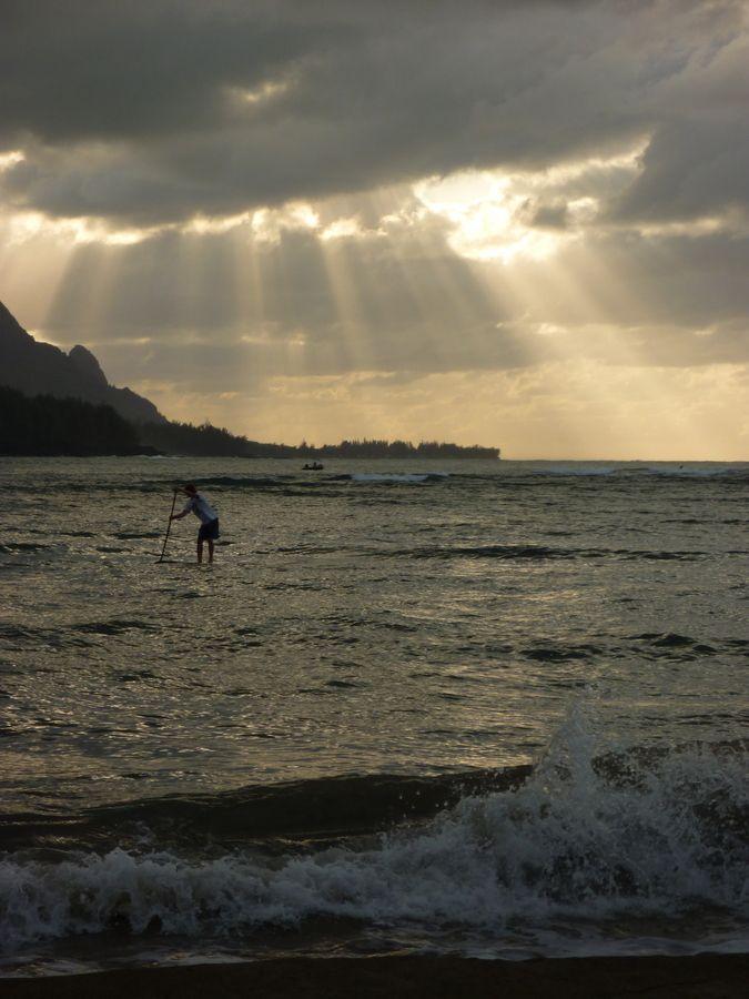 Stand Up Paddling, Hanalei Bay, Kauai   Kauai Sports Photographer