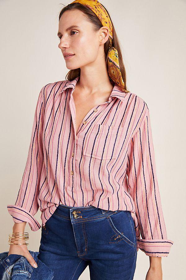 Isadora Button-Back Tunic