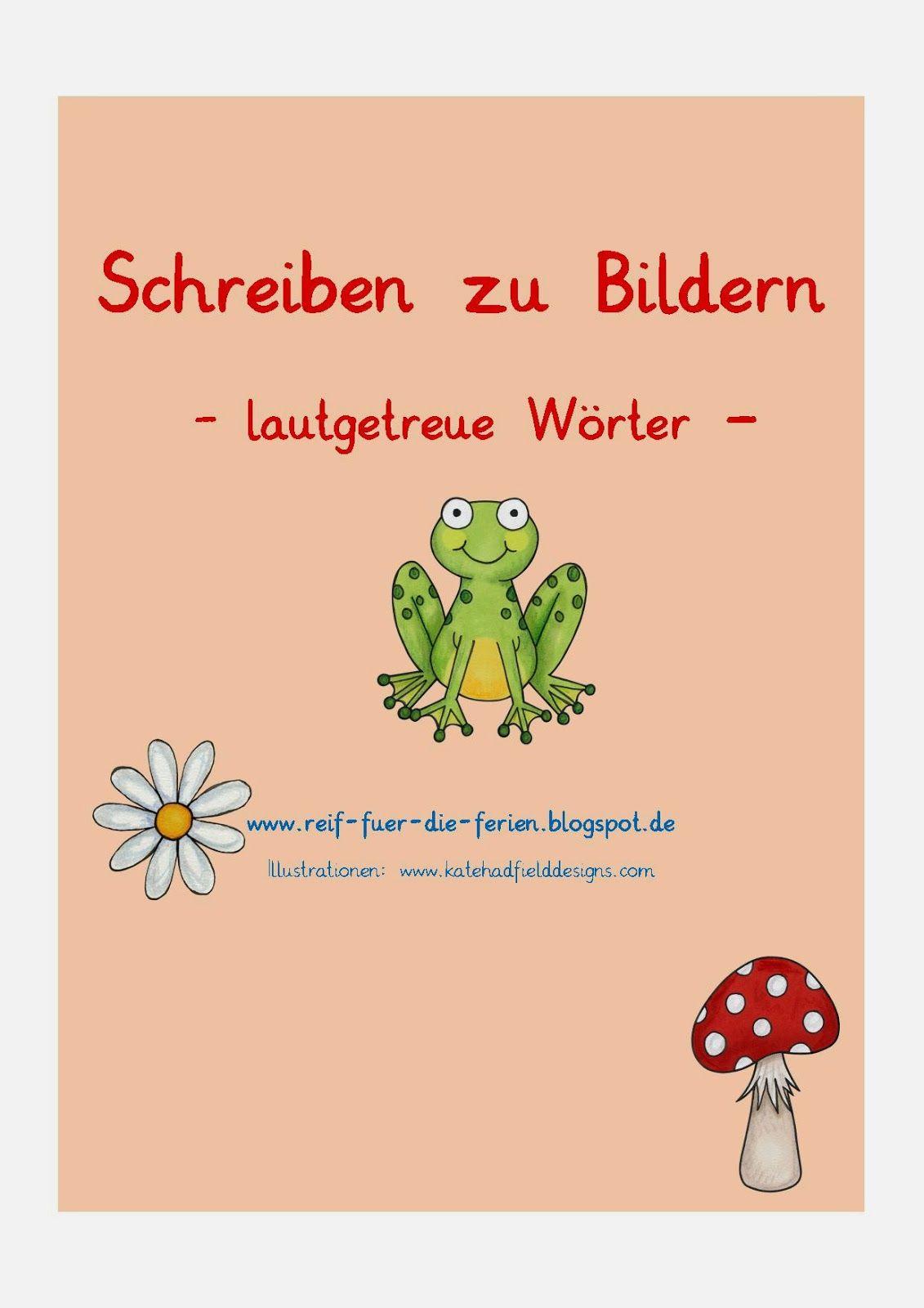Schreiben zu Bildern - lautgetreue Wörter | Fuchsklasse Deutsch ...