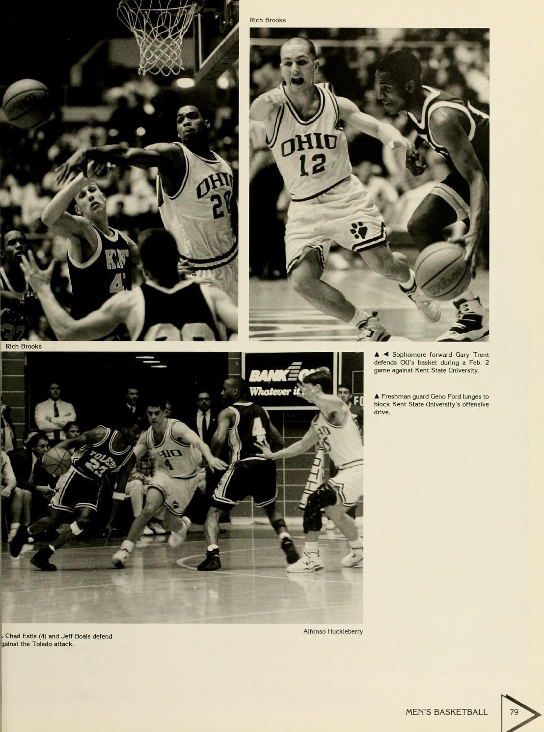 Athena Yearbook 1994 Ohio University Men S Basketball Players