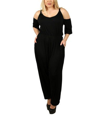 2be1f89707de Loving this Black Cutout Jumpsuit - Plus on  zulily!  zulilyfinds ...