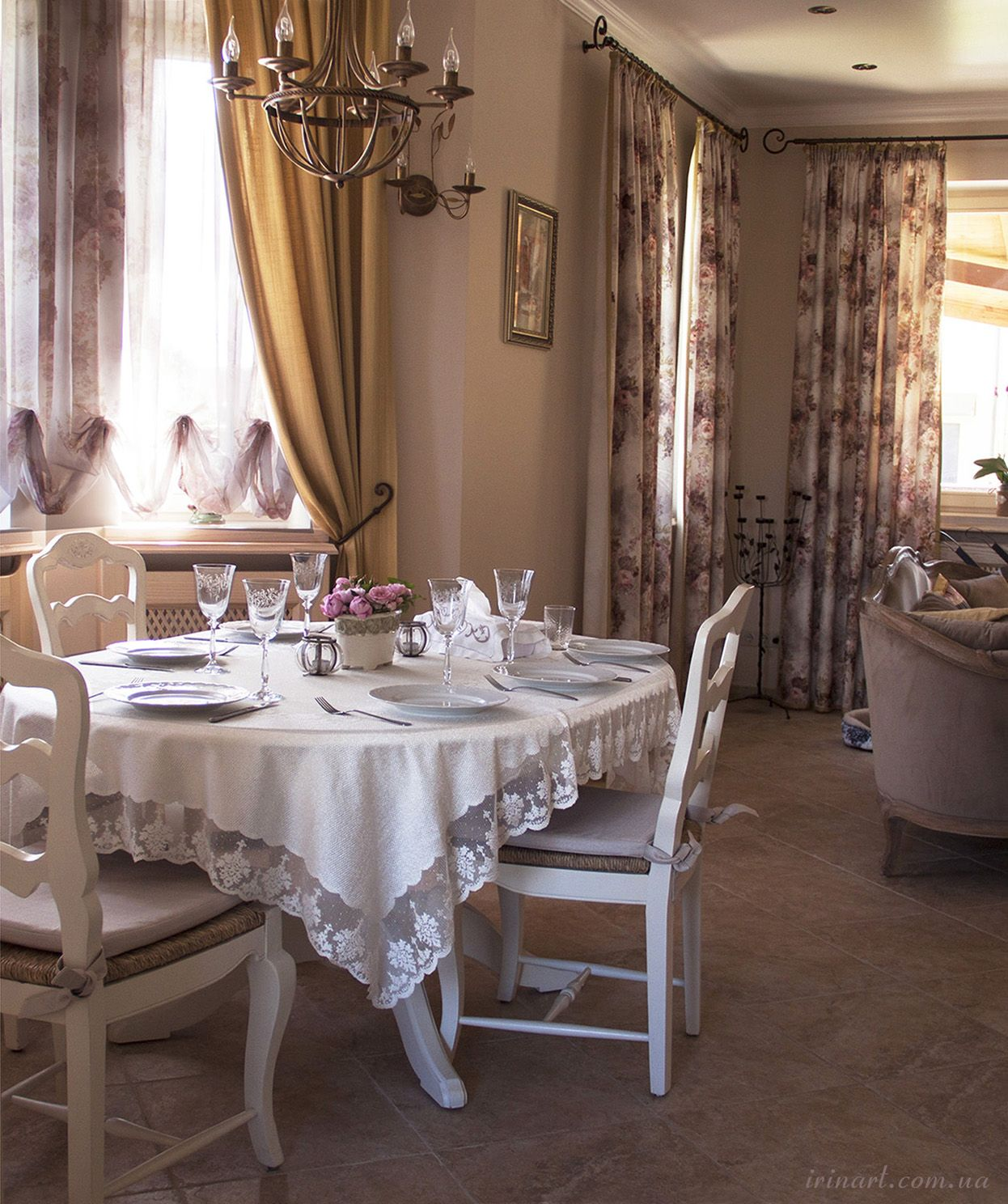 Provence decorating style in the dinning room