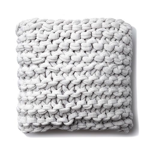 Home Republic Chunky Knit Grey Marle Cushion Homewares
