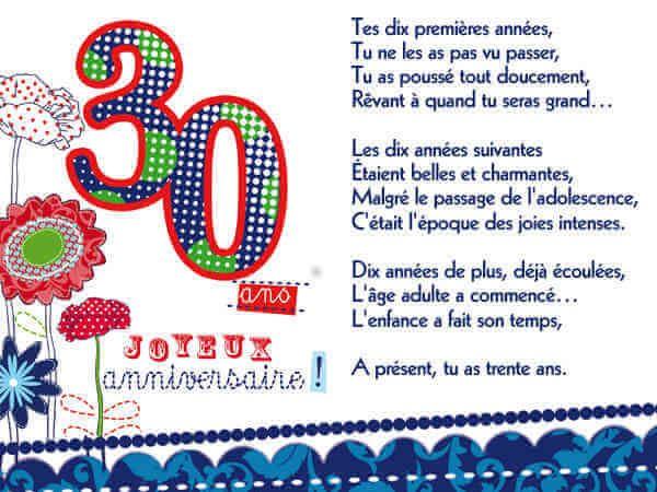 Poeme En Image Pour Un Trentenaire Anniversaire Pinterest