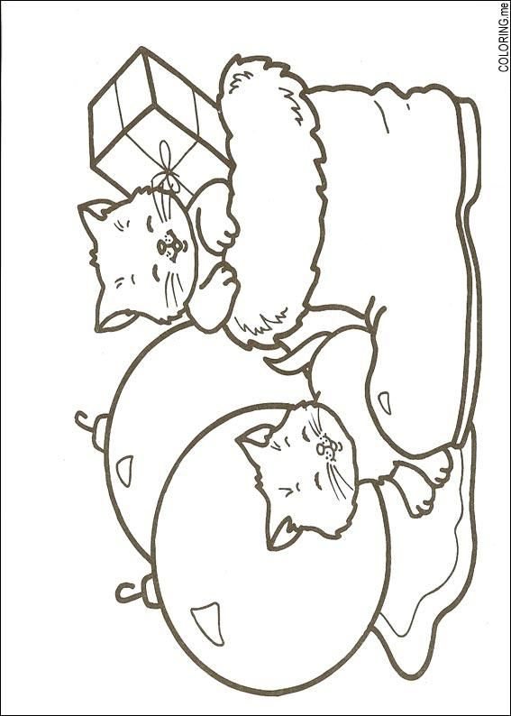 Exceptional Coloring Page : Christmas Cats   Coloring.me
