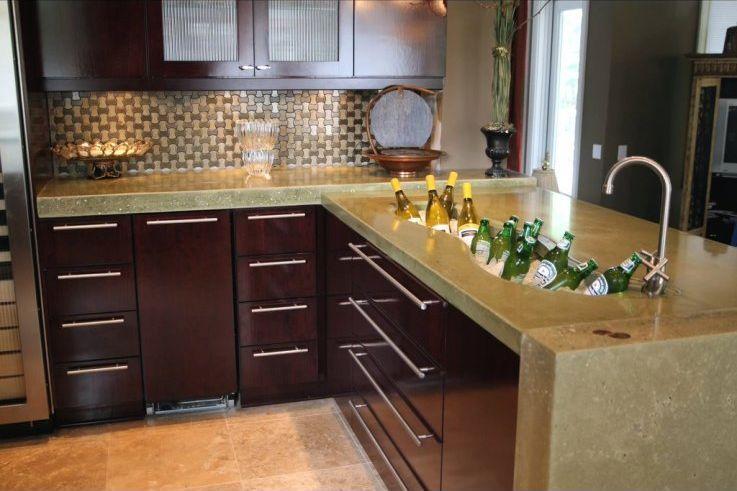 Cocina cemento pulido modelos de cocinas empotradas en for Cocinas de concreto
