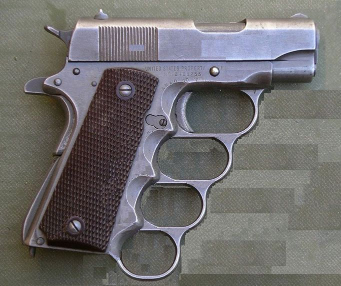 I finally found a short-barrel 1911 I would consider buying! M1911A1-Knuckles-1911-Pistol