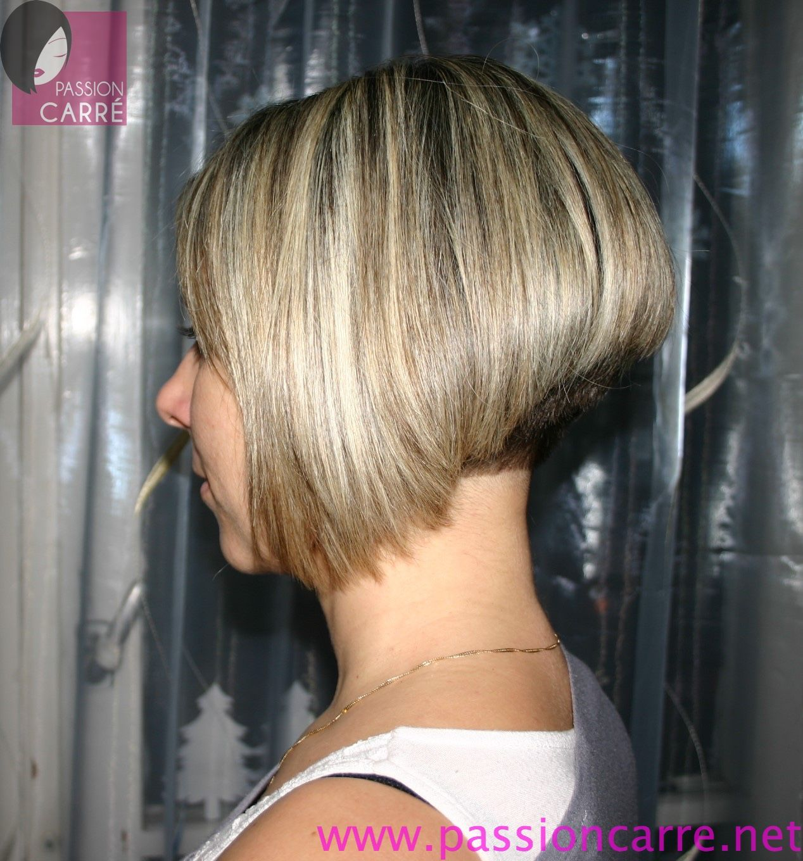 Carre plongeant blond nuque courte 02 aline bob blonde hair beauty that i love pinterest - Nuque carre plongeant ...