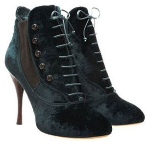 velvet ankle boots | emerald velvet ankle boots | Fashion -- Tabitha Simmons 'Candace'