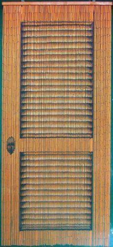Louver Wooden Door Bamboo Beaded Curtain   Bamboo beaded curtains ...