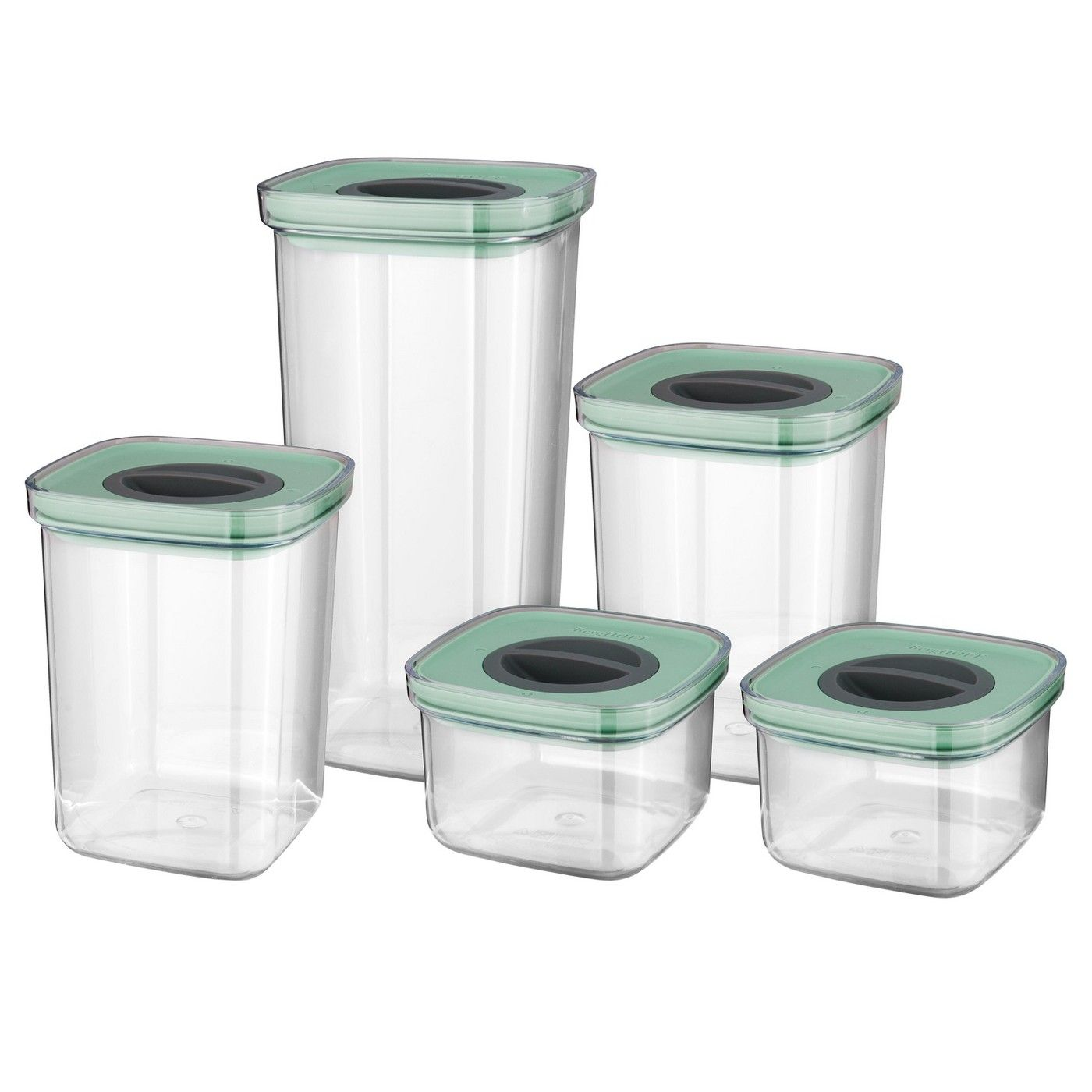 Berghoff Leo 5 Pc Smart Seal Food Container Set Green Food Storage Set Food Storage Container Set Food Container Set