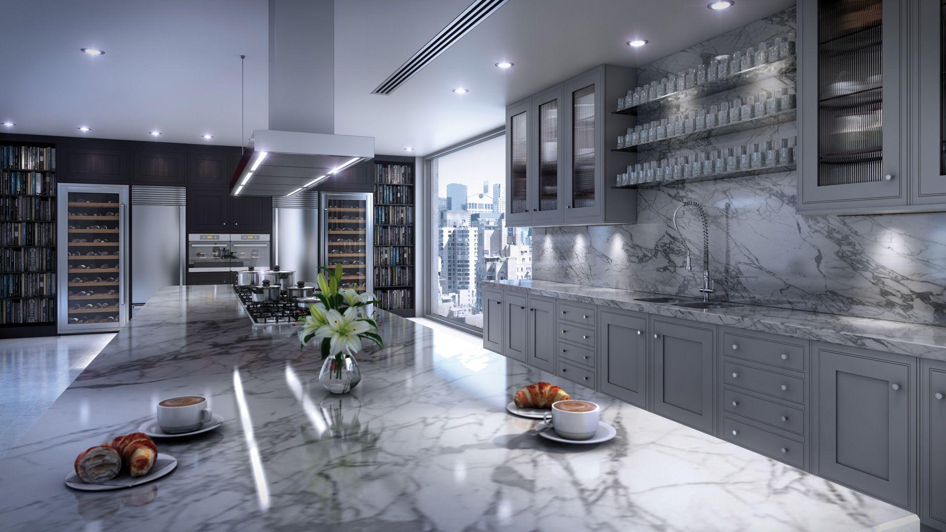 High Quality Alpha Deco Kitchen In Steel Grey With Black Walnut