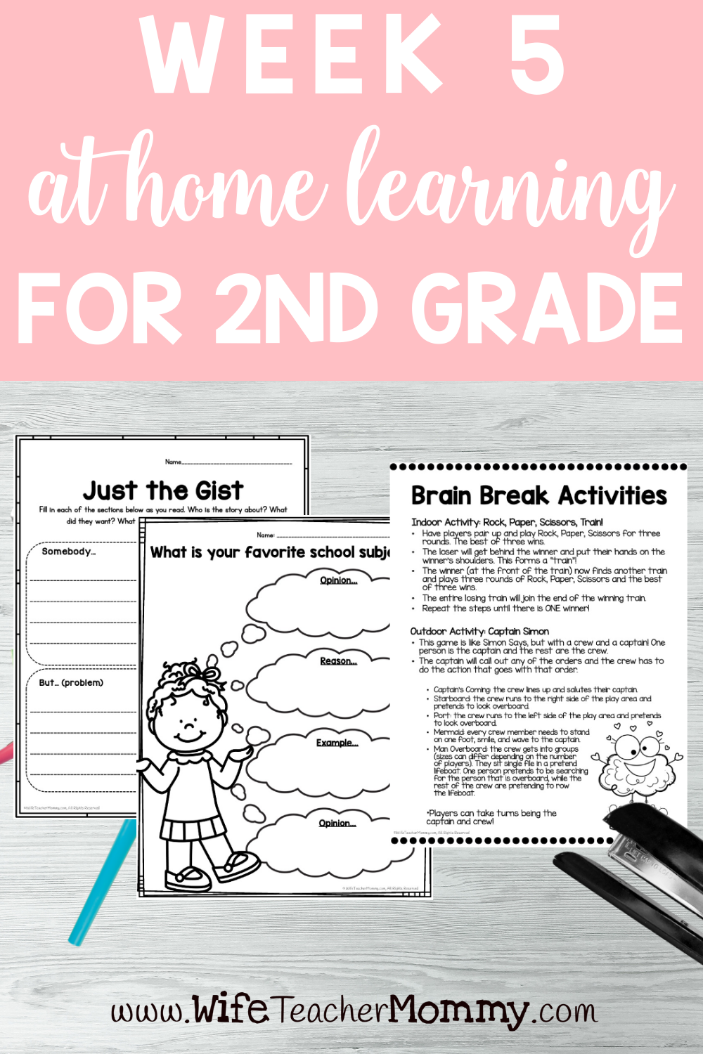 2nd Grade Distance Learning Packet At Home Learning Activities Week 5 Wife Teacher Mommy Elementary Lesson Plans Distance Learning Homeschool Lesson [ 1500 x 1000 Pixel ]