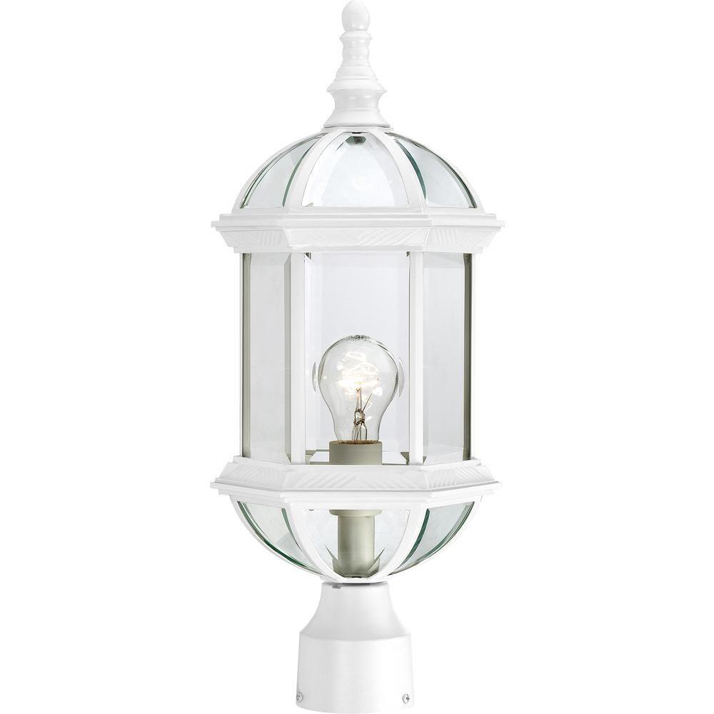 Filament Design 1 Light Outdoor White Post Light Products Outdoor Post Lights Outdoor Lighting Lighting