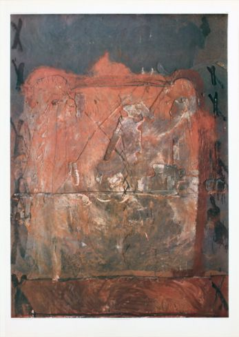 Relief in Brick Color Collectable Print by Antoni Tapies at Art.com