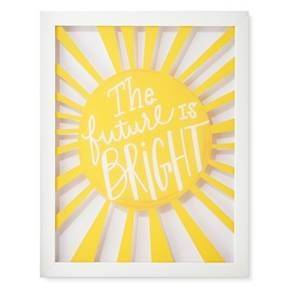 Think Positively With The Future Is Bright Framed Wall Art 14 X11 From Pillowfort This Inspirational Mess Playroom Wall Decor Art Wall Kids Kids Wall Decor