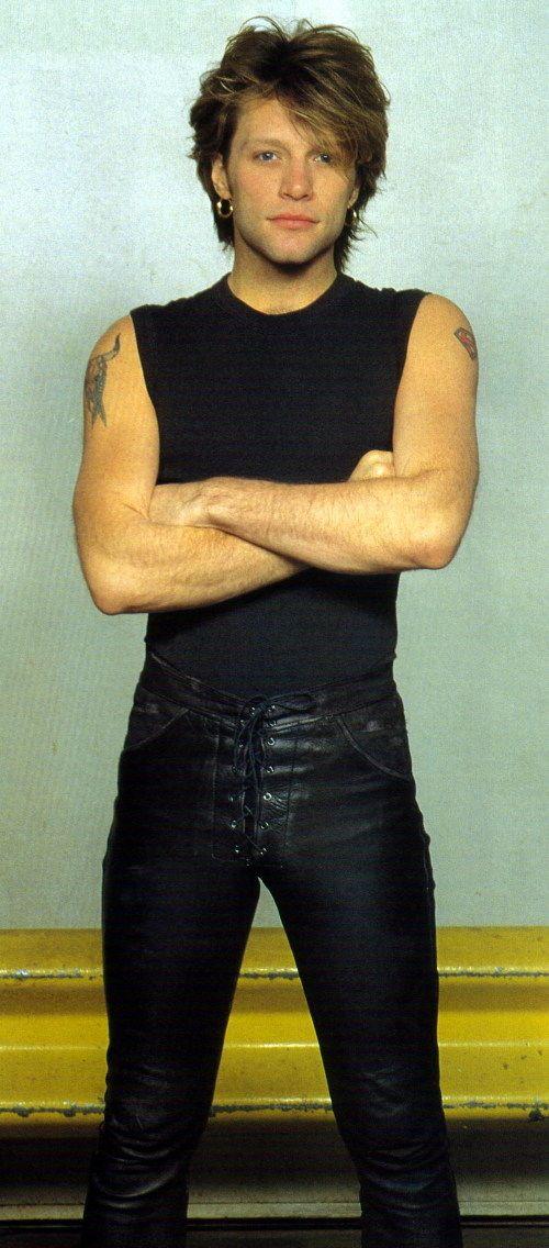 Jon Bon Jovi...OMG THOSE PANTS lol