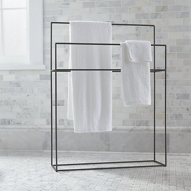 Jackson standing towel rack bathroom furniture and - Bathroom accessories towel racks ...