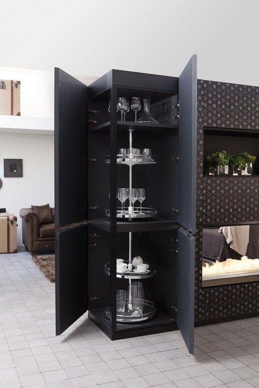 I mobili contenitori diventano pareti divisorie design furniture pinterest pareti - Mobili contenitori design ...