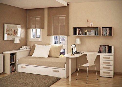 Dormitorio Juvenil Pequeno 2 Habitacion Lucia Pinterest - Dormitorio-juvenil-pequeo