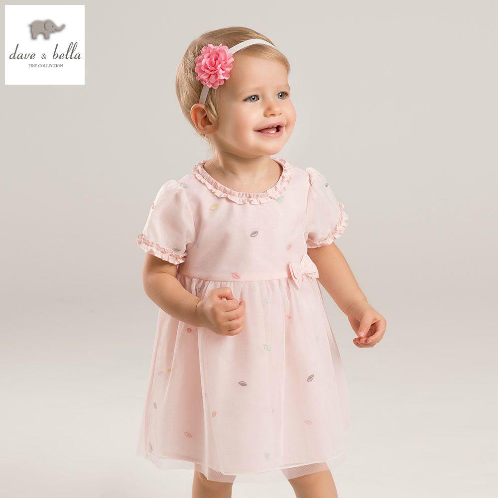 DB5297 dave bella summer baby girls princess dress childs pink dress ...