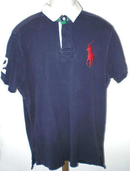 $29.99 RALPH LAUREN POLO RUGBY SHIRT BIG PONY SHORT SLEEVE NAVY XL  #PoloRalphLauren #PoloRugby