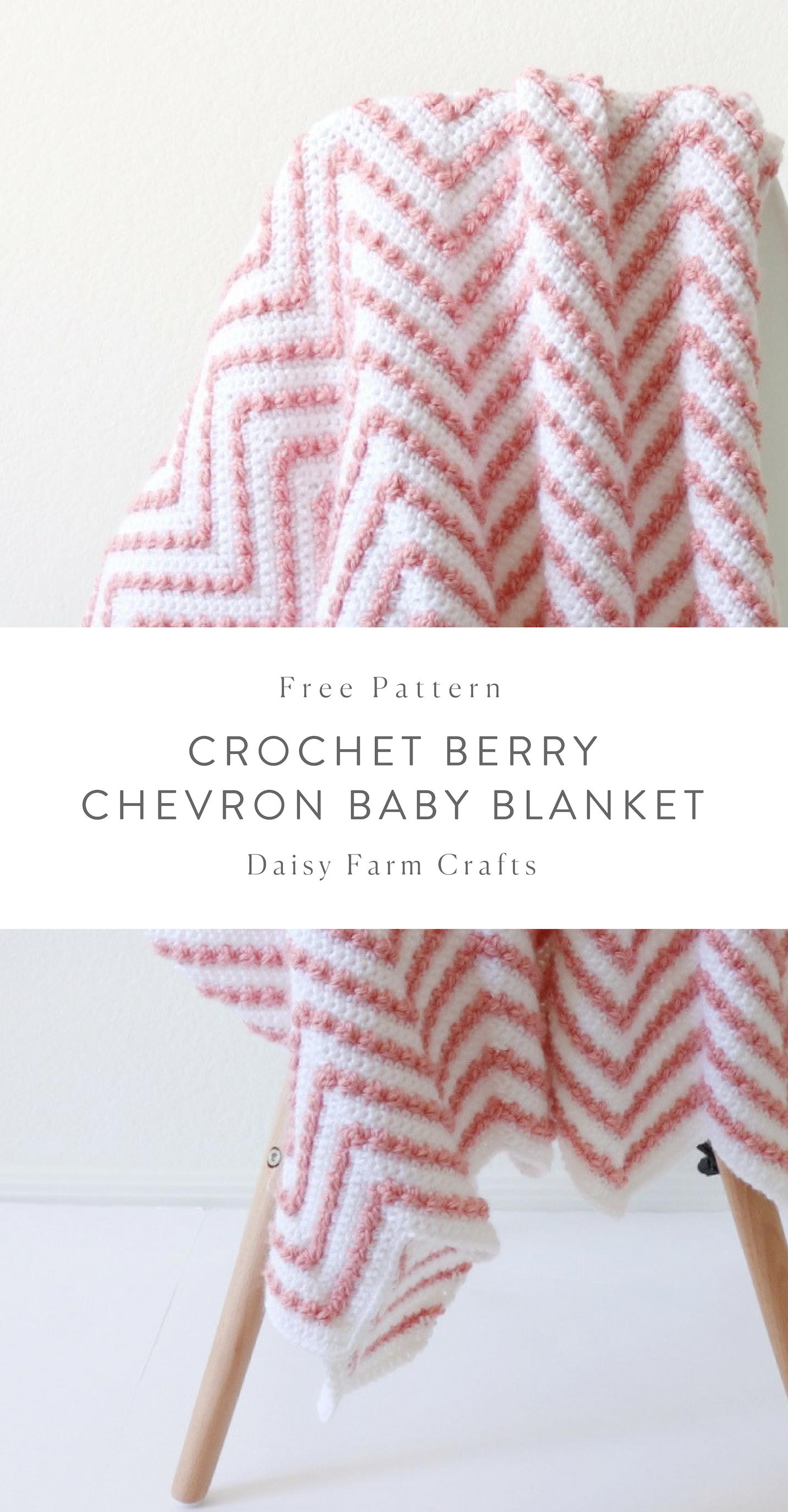 Free Pattern - Crochet Berry Chevron Baby Blanket | Crochet ...