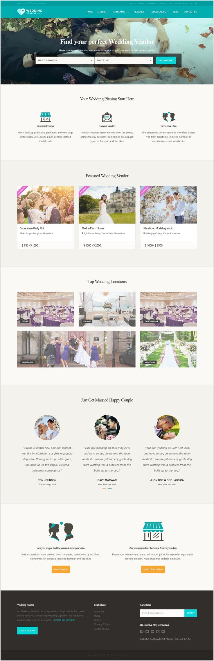 Vendor Directory WordPress Theme | Wedding Vendor | Wedding ...