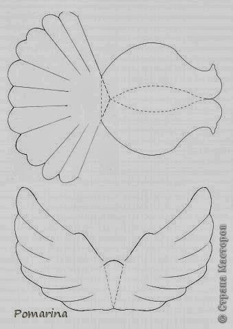 Diy Projects: DIY Paper Dove With Printable Template
